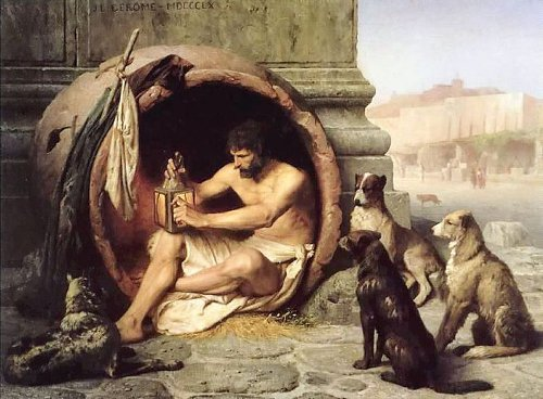 http://commons.wikimedia.org/wiki/File:Gerome_-_Diogenes.jpg