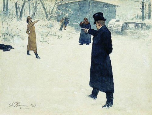 http://commons.wikimedia.org/wiki/File:Yevgeny_Onegin_by_Repin.jpg