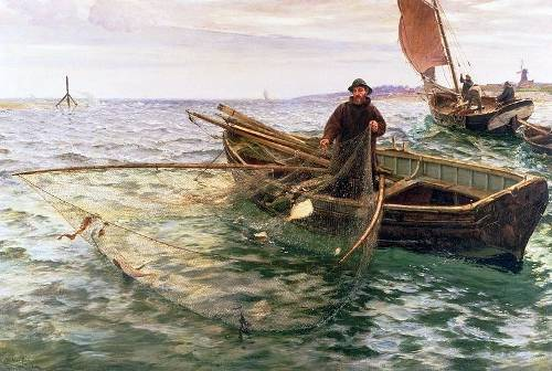 http://commons.wikimedia.org/wiki/File:Charles_Napier_Hemy_-_The_Fisherman_1888.jpg