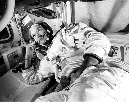 http://commons.wikimedia.org/wiki/File:Michael_collins_training_apollo_11.jpg