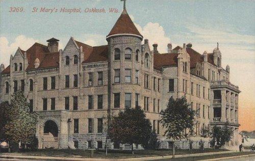 http://commons.wikimedia.org/wiki/File:PostcardOshkoshWIStMarysHospitalCirca1907.jpg