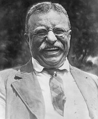 http://commons.wikimedia.org/wiki/File:Theodore_Roosevelt_laughing.jpg