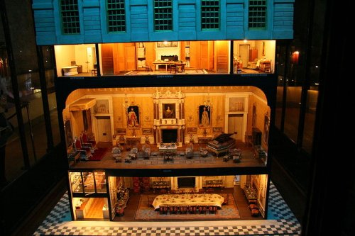 http://commons.wikimedia.org/wiki/File:Queen_Mary%27s_doll_house_at_Windsor_Castle.jpg