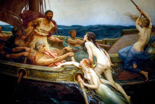 http://commons.wikimedia.org/wiki/File:Ulysses_and_the_Sirens_by_H.J._Draper.jpg