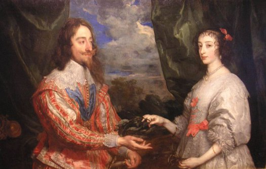 http://commons.wikimedia.org/wiki/File:Van_Dyck_Charles_I_and_Henrietta.JPG