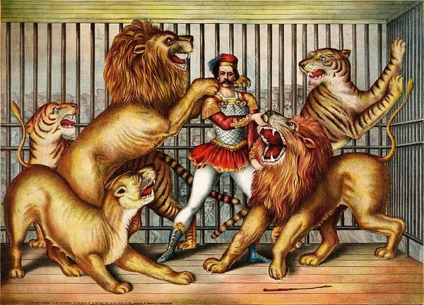 http://commons.wikimedia.org/wiki/File:Lion_tamer_(LOC_pga.03749).jpg