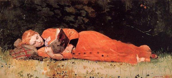 http://commons.wikimedia.org/wiki/File:1877-winslow-homer-the-new-novel.jpg