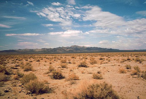 http://commons.wikimedia.org/wiki/File:Death_Valley,19820816,Desert,incoming_near_Shoshones.jpg