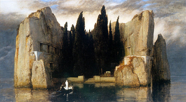 http://commons.wikimedia.org/wiki/Image:Arnold_Boecklin_-_Island_of_the_Dead%2C_Third_Version.JPG