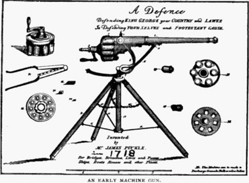 http://commons.wikimedia.org/wiki/File:Puckle_gun_advertisement.jpg