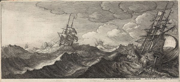 http://commons.wikimedia.org/wiki/File:Wenceslas_Hollar_-_Warship_in_the_trough_of_a_wave_(State_1).jpg