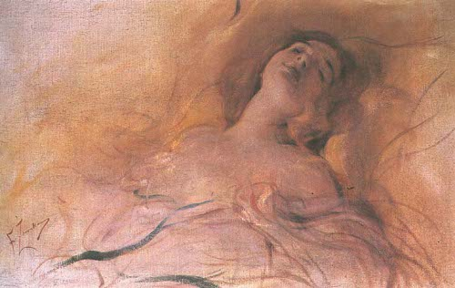 http://commons.wikimedia.org/wiki/File:Franciszek_Zmurko_-_In_delightful_dream.jpg