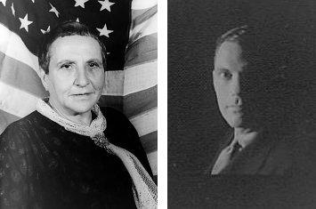 http://commons.wikimedia.org/wiki/File:Gertrude_Stein_1935-01-04.jpg