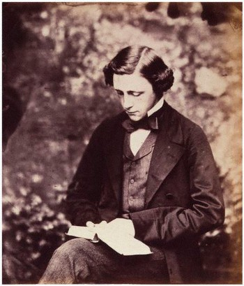 http://commons.wikimedia.org/wiki/File:Lewis_Carroll_Self_Portrait_1856_circa.jpg