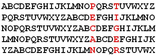pecan-tiger lettershift