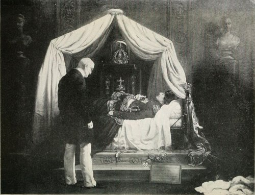 http://commons.wikimedia.org/wiki/File:Wellington_Visiting_the_Effigy_of_Napoleon.jpg