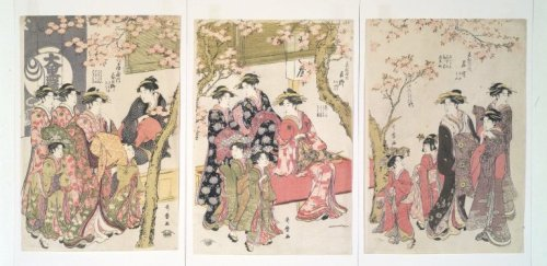 http://commons.wikimedia.org/wiki/File:Brooklyn_Museum_-_Courtesans_Strolling_Beneath_Cherry_Trees_Before_the_Daikokuya_Teahouse_-_Kitagawa_Utamaro.jpg