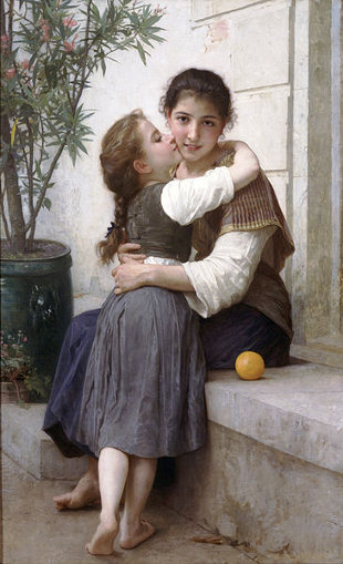 http://commons.wikimedia.org/wiki/File:William-Adolphe_Bouguereau_(1825-1905)_-_A_Little_Coaxing_(1890).jpg