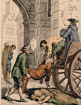 http://commons.wikimedia.org/wiki/File:Great_plague_of_london-1665.jpg