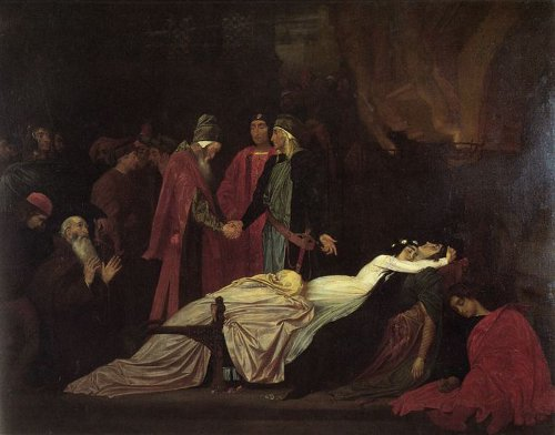 http://commons.wikimedia.org/wiki/File:Frederick_Leighton_-_The_Reconciliation_of_the_Montagues_and_Capulets_over_the_Dead_Bodies_of_Romeo_and_Juliet.jpg