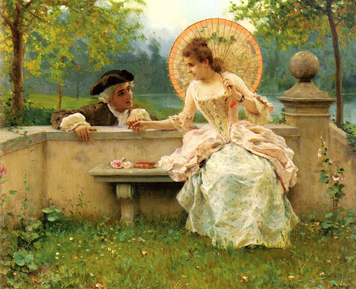 http://commons.wikimedia.org/wiki/File:Federico_Andreotti_-_A_Tender_Moment_in_the_Garden.jpg