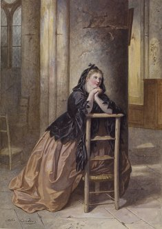 http://commons.wikimedia.org/wiki/File:Alexandre_Couder_-_Woman_Kneeling_in_Prayer_-_Walters_371369.jpg