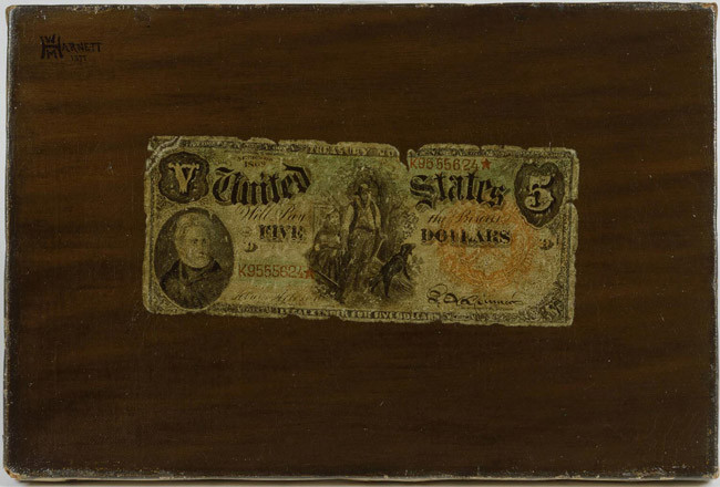 harnett five-dollar bill