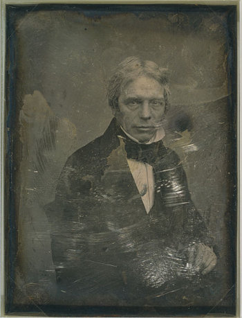 http://commons.wikimedia.org/wiki/File:Michael_Faraday,_by_Mathew_Brady_studio,_between_1844_and_1860.jpg