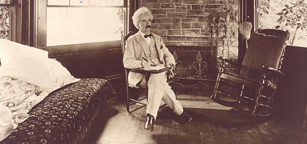 http://commons.wikimedia.org/wiki/File:Mark_Twain_seated.jpg