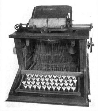 http://commons.wikimedia.org/wiki/File:Sholes_typewriter.jpg