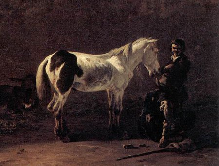 http://commons.wikimedia.org/wiki/File:Karel_Dujardin_-_Italian_Landscape_with_Herdsman_and_a_Piebald_Horse_WGA.jpg