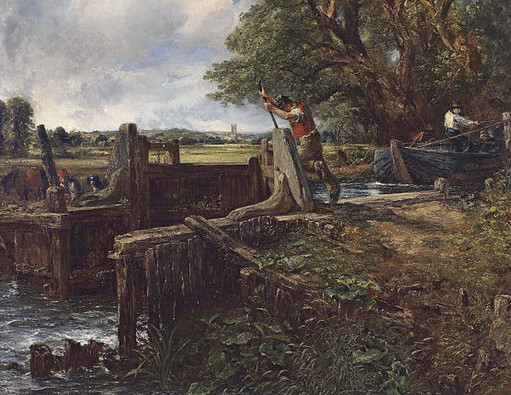 http://commons.wikimedia.org/wiki/File:John_Constable_-_The_Lock.jpg