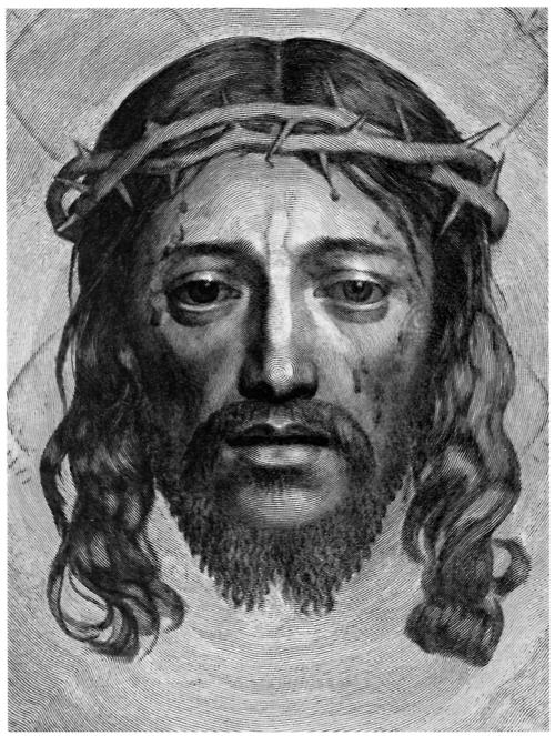 http://commons.wikimedia.org/wiki/File:Claude_Mellan_-_Face_of_Christ_-_WGA14764.jpg
