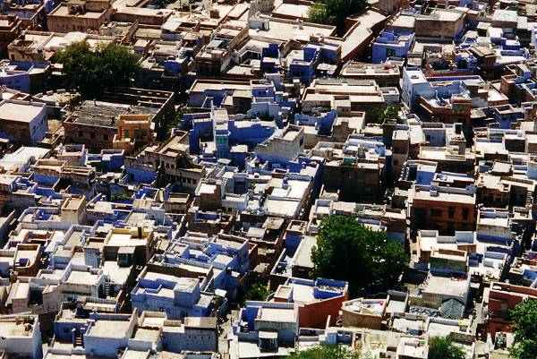 http://commons.wikimedia.org/wiki/File:Jodhpur_rooftops.jpg