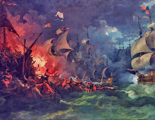 http://commons.wikimedia.org/wiki/File:Loutherbourg-Spanish_Armada.jpg