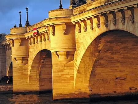 http://commons.wikimedia.org/wiki/File:Pont_Neuf_at_Sunset.jpg