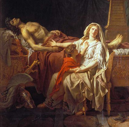 http://commons.wikimedia.org/wiki/File:David-Andromache_Mourning_Over_Body_of_Hector.jpg