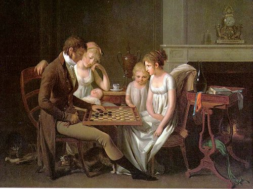 http://commons.wikimedia.org/wiki/File:Boilly-Checkers-1803.jpg