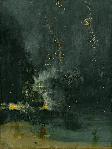 http://commons.wikimedia.org/wiki/File:Whistler-Nocturne_in_black_and_gold.jpg