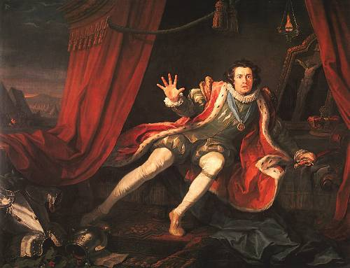 http://commons.wikimedia.org/wiki/File:Hogarth,_William_-_David_Garrick_as_Richard_III_-_1745.jpg