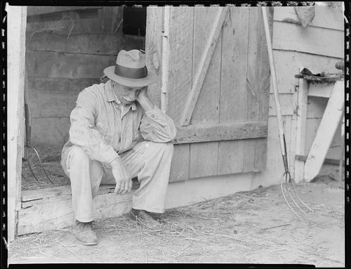 http://commons.wikimedia.org/wiki/File:Farmer_in_despair_over_the_depression_in_1932._-_NARA_-_512819.jpg