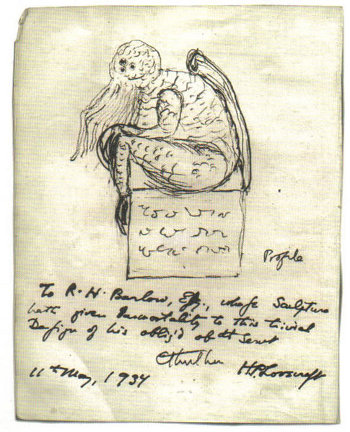 http://commons.wikimedia.org/wiki/File:Cthulhu_sketch_by_Lovecraft.jpg