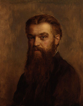 http://commons.wikimedia.org/wiki/File:William_Kingdon_Clifford_by_John_Collier.jpg