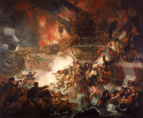 http://commons.wikimedia.org/wiki/File:Mather_Brown_-_Battle_of_the_Nile.jpg