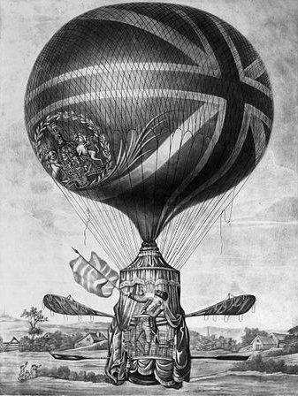 http://commons.wikimedia.org/wiki/File:Lunardi%27s_New_Balloon_as_it_ascended_with_Himself_13th_May_1785.jpg