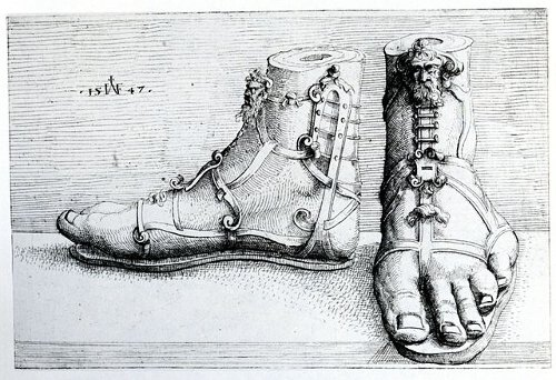 http://commons.wikimedia.org/wiki/File:Hirschvogel_Sandals.jpg
