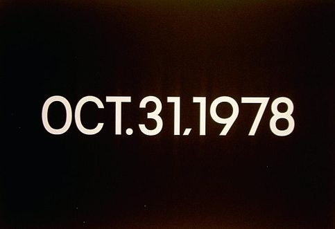 http://en.wikipedia.org/wiki/File:Oct_31,_1973_(Today_Series,_%22Tuesday%22)_On_Kawara.JPG