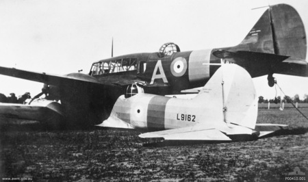 http://commons.wikimedia.org/wiki/File:Two_Avro_Ansons_(L9162_and_N4876)_%22piggyback%22_in_a_paddock_near_Brocklesby_2.jpg
