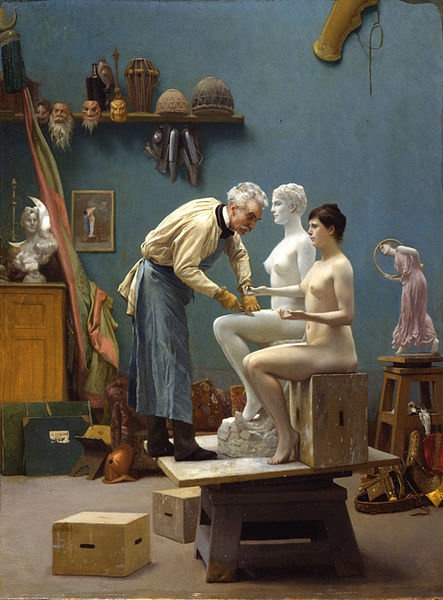 http://commons.wikimedia.org/wiki/File:Working_in_Marble_%28Gerome%29.jpg