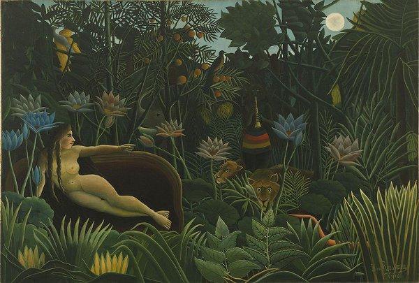 http://commons.wikimedia.org/wiki/File:Henri_Rousseau_-_Il_sogno.jpg